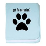 got Pomeranian? baby blanket