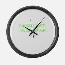 No more MP green Large Wall Clock