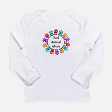 End Animal Abuse Long Sleeve Infant T-Shirt