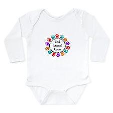 End Animal Abuse Long Sleeve Infant Bodysuit