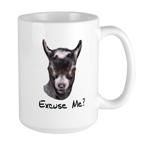 Pygmy Goat Excuse me? Large Mug