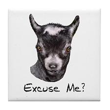 Pygmy Goat Excuse me? Tile Coaster