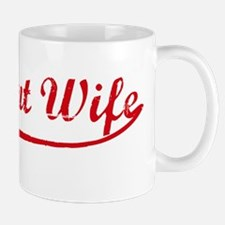 Vintage (Red) Pregnant Wife Mug