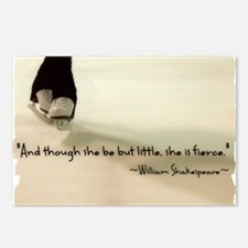 And though she be but little, she is fierce. Postc