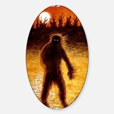 Big Foot at Dusk Sticker (Oval)