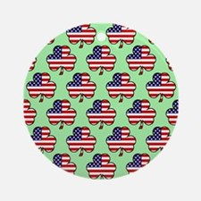 'American Shamrock' Ornament (Round)