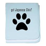 got Japanese Chin? baby blanket