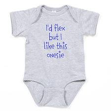 Id flex but I like this onesie Baby Bodysuit