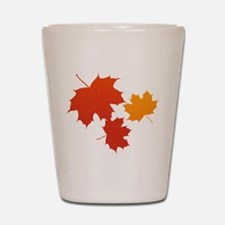 Autumn Leaves Shot Glass