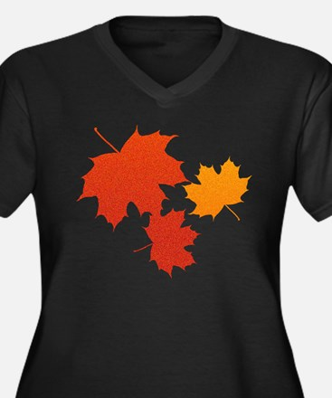 Autumn Leaves Plus Size T-Shirt