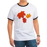 Autumn maple leaves Ringer T