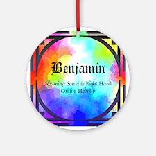 Benjamin Ornament (Round)
