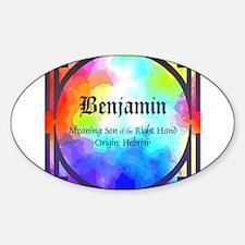 Benjamin Oval Decal