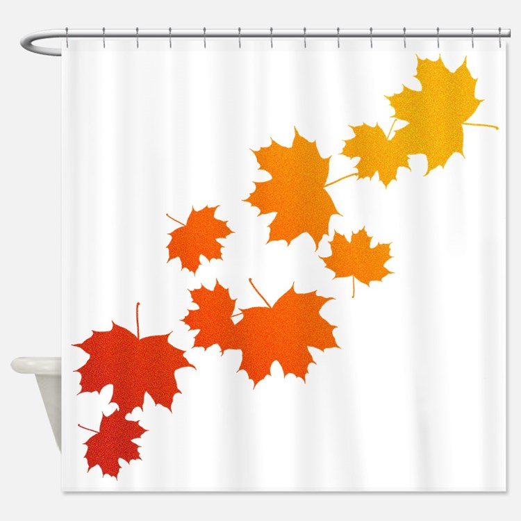 Autumn Shower Curtains 2 - maple leaf shower curtains maple leaf ...
