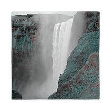 gigantic waterfall changing colors Queen Duvet