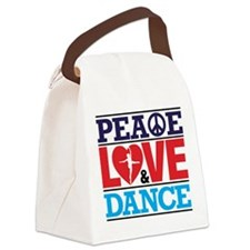 Peace Love and Dance Canvas Lunch Bag