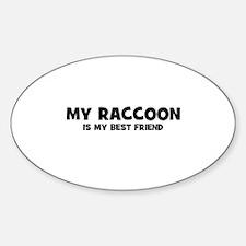 My RACCOON is my Best Friend Oval Decal
