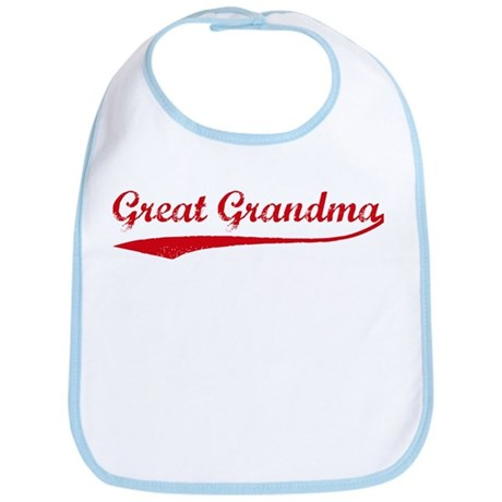 Vintage (Red) Great Grandma Bib