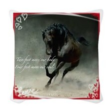 Four feet move your soul Woven Throw Pillow