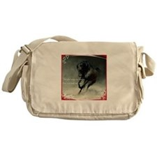 Four feet move your soul Messenger Bag