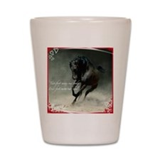 Four feet move your soul Shot Glass
