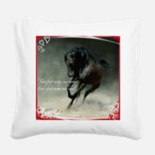 Four feet move your soul Square Canvas Pillow