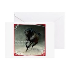 Four feet move your soul Greeting Cards