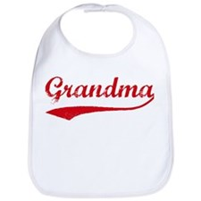 Vintage (Red) Grandma Bib