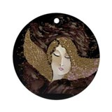 Angel gold Round Ornaments