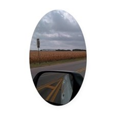 Very Symbolic Oval Car Magnet