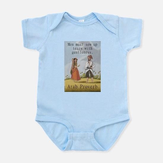 Men Must Sew Up Tears - Arab Infant Bodysuit