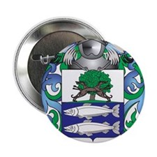 """Wulf Family Crest (Coat of Arms) 2.25"""" Button"""