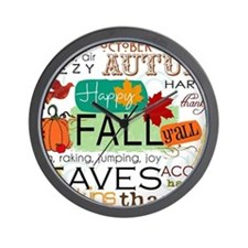 Autumn Subway Art Wall Clock