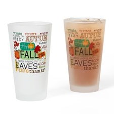 Autumn Subway Art Drinking Glass