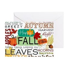 Autumn Subway Art Greeting Card