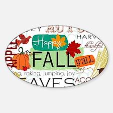 Autumn Subway Art Sticker (Oval)
