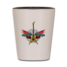 CLE-Guitar Fire Wings Shot Glass
