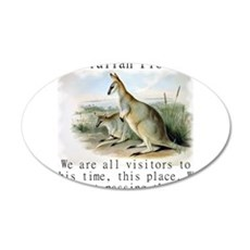 We Are All Visitors - Australian Wall Decal