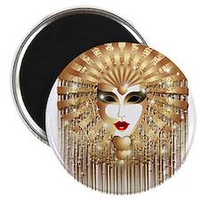 Golden Venice Carnival Mask Magnets