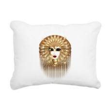 Golden Venice Carnival Mask Rectangular Canvas Pil