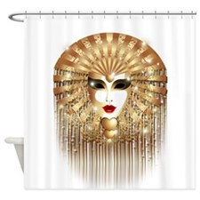 Golden Venice Carnival Mask Shower Curtain