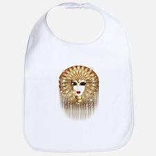 Golden Venice Carnival Mask Bib