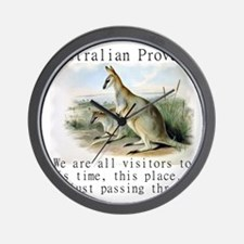 We Are All Visitors - Australian Wall Clock