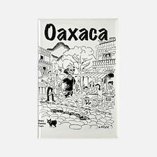 Oaxaca Running Shirt Rectangle Magnet