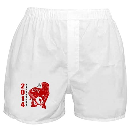 2014 Year of The Horse Paper Cut Boxer Shorts