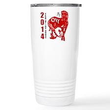 2014 Year of The Horse Paper Cut Travel Mug