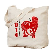2014 Year of The Horse Paper Cut Tote Bag