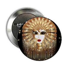 "Golden Venice Carnival Mask 2.25"" Button"