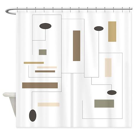 Minimalist Shower Curtain 2 Shower Curtain By GailGabel