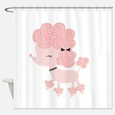 Pink Paris Poodle Shower Curtain